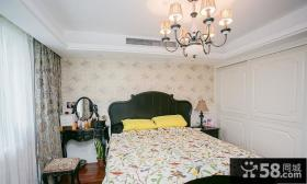 复古美式风格卧室设计装修图片