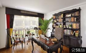 2014美式复古风格书房装修效果图