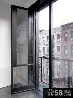 现代阳台推拉门图片