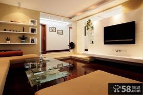 客厅简易背景墙装修图片