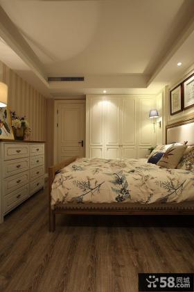 美式混搭风格卧室衣柜门图片