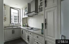 家庭厨房欧式实木橱柜效果图片欣赏