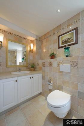 美式风格瓷砖卫生间效果图