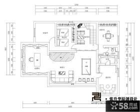 560平米三层独栋别墅地下一楼户型图设计
