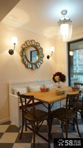 美式餐厅家具实木