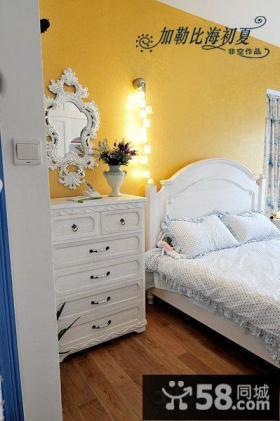 地中海风格卧室欧式床头柜图片
