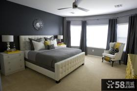 小户型欧式现代风格卧室装修效果图大全2014图片