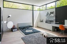 北欧乡村别墅卧室装修效果图大全2014图片