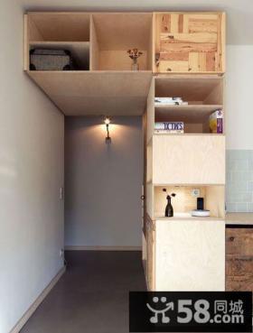 简约设计小户型创意置物柜装饰图片