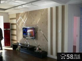 现代简约的电视背景墙装修效果图大全2014图片
