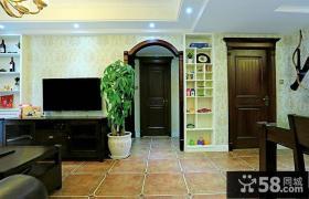 后现代优质客厅电视背景墙设计
