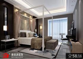 欧式现代主卧室装修效果图大全2013图片欣赏