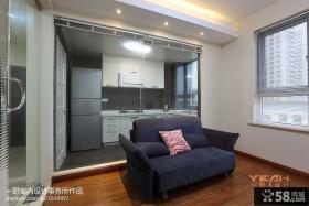 厨房与客厅效果图 现代风格装修效果图