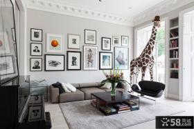 客厅照片墙设计装饰