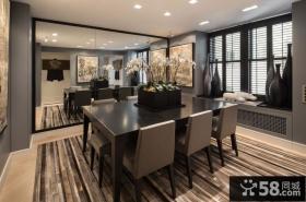 美式公寓餐厅装修设计图片