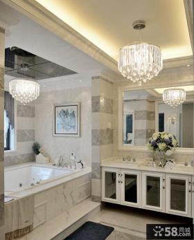新古典风格别墅家居卫生间效果图