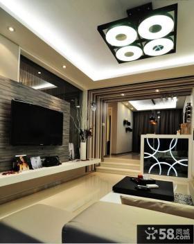 现代风客厅电视背景墙效果图