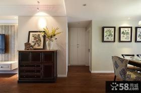 美式风格设计室内玄关图片