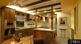 乡村美式家装厨房设计效果图