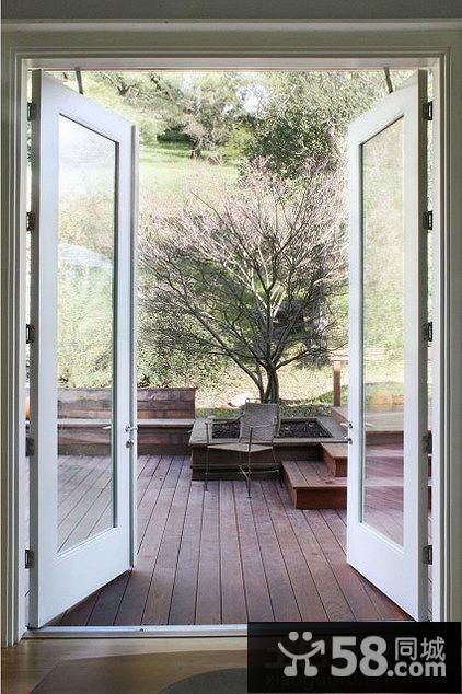 双开阳台门装修效果图
