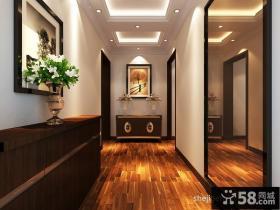 进门走廊玄关相片墙装修效果图设计