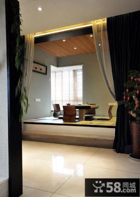 新中式风格别墅室内榻榻米效果图