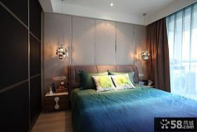 主卧室床头硬包背景墙装修效果图