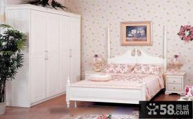 韩式田园风格装修卧室样板房