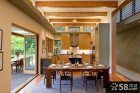 美式现代风格别墅餐厅图片