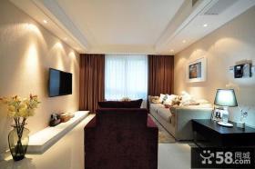 现代优质家庭装修电视墙效果图欣赏