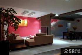 简约小复式客厅装饰效果图