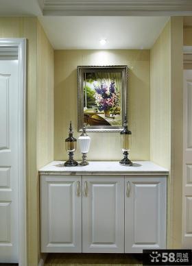 室内简欧风格鞋柜设计效果图