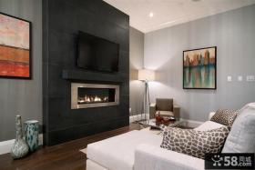 现代风客厅电视背景墙装修设计图片