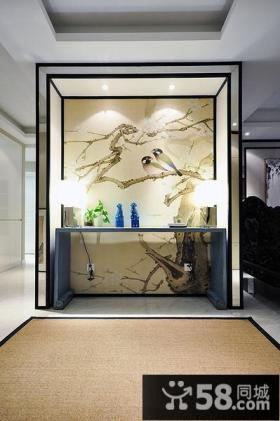 现代新中式玄关设计