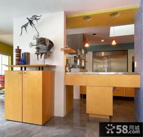小复式家庭厨房装修效果图大全2014图片