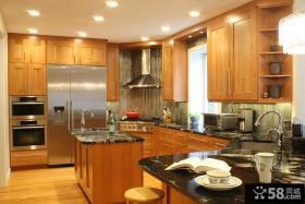 美式风格厨房装修效果图大全2013图片