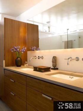 小复式楼卫生间装修效果图片