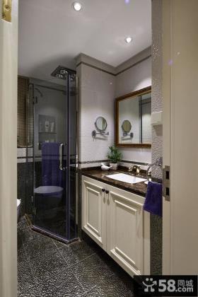 美式简约家居卫生间设计2014
