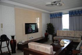 新中式风格复式楼客厅电视背景墙装修效果图