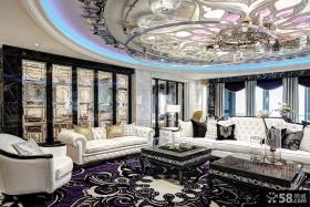 新古典客厅吊顶装修效果图片大全