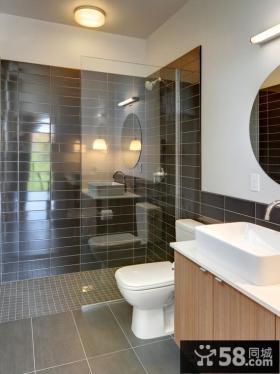 卫浴室玻璃隔断效果图