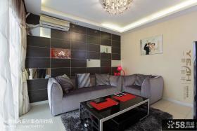 现代风格小户型客厅装修效果图欣赏
