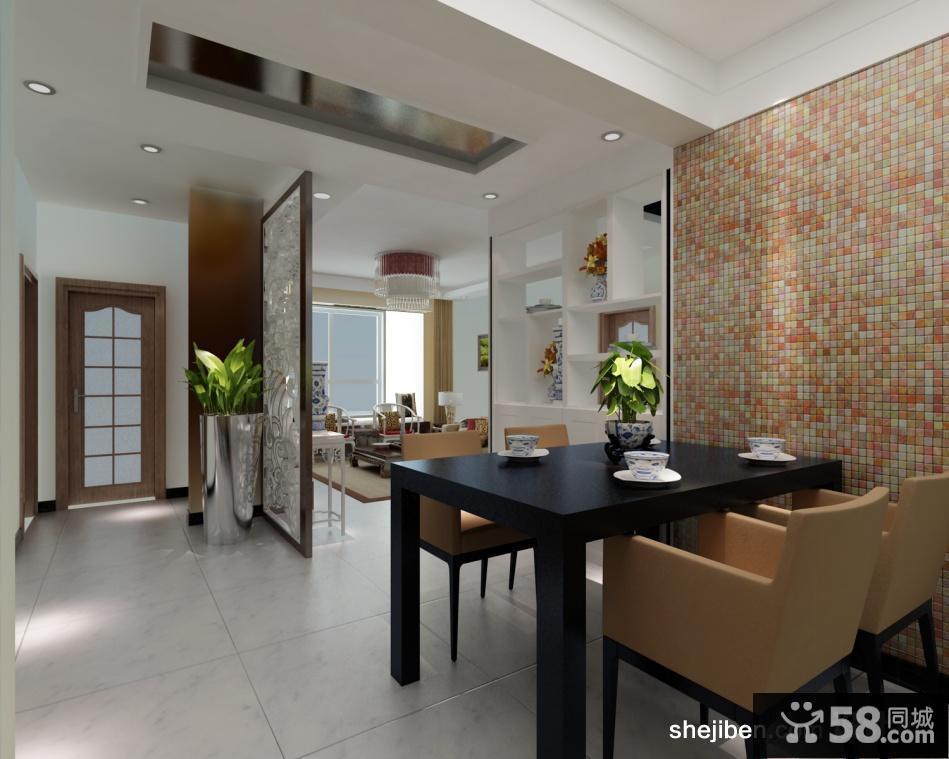三室两厅两卫装修效果图 小餐厅设计