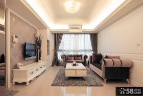 现代欧式家居客厅装修效果图