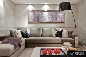 新古典风格豪华别墅沙发背景墙装修效果图