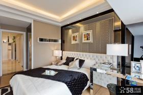 三室两厅卧室软包背景墙装修效果图