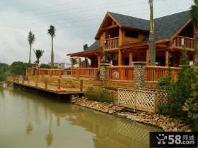 中式木别墅外观装修效果图