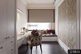 欧式奢华别墅室内书房效果图片