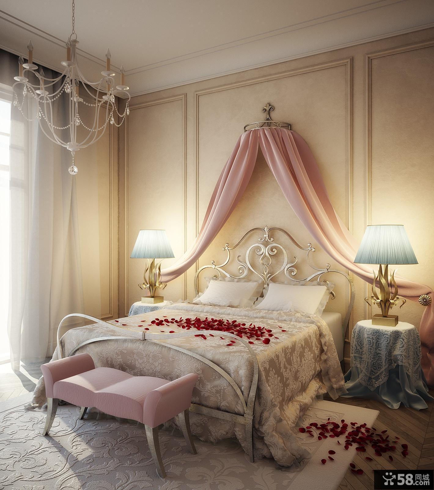主卧室装修效果图大全2012图片 婚房卧室效果图