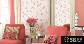 欧式客厅玉兰壁纸图片